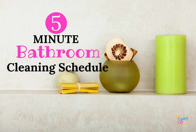Always having a clean bathroom for family and guests is my dream. I finally developed a quick daily bathroom schedule that has helped me keep my bathrooms clean and organized. Having a clean bathroom every day is possible when you follow this easy bathroom cleaning schedule. With bonus shower cleaning hack that will blow your mind.