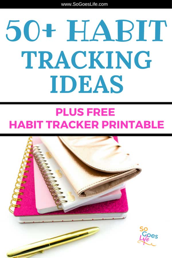 50+ Habit Tracking Ideas anyone can use to be more productive. I love using these habit tracking ideas in my bullet journal. Tracking my habits helps me be more organized so I can create great habits and get rid of negative habits that have been holding me back. Taking the time to track your daily habits will make it easier for you to accomplish your goals and put the enjoyment back into your crazy schedule.