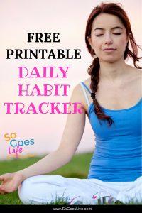 Free Positive Habit Tracking Printable Worksheet